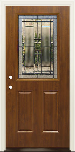 Mastercraft® Lakeside Dark Oak Steel Half-Lite Prehung Exterior Door w/Composite Frame at Menards® & Mastercraft® Lakeside Dark Oak Steel Half-Lite Prehung Exterior Door ...