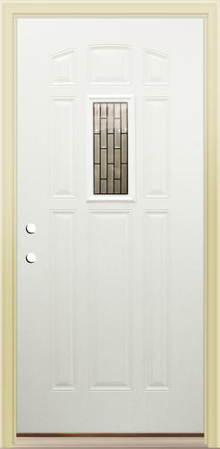 & Mastercraft® Primed Steel Mini-Lite Prehung Exterior Door at Menards®
