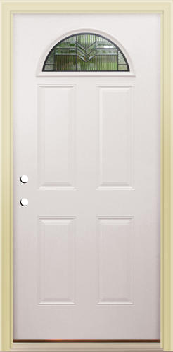 menards front doorsMastercraft AS135 Steel HalfMoon Prehung Exterior Door at Menards