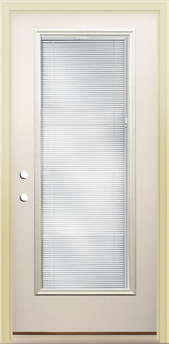 Mastercraft Lt 8 Steel Blinds In Glass Full Lite Prehung Exterior