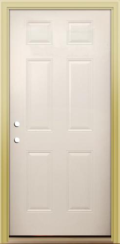 & Mastercraft® Primed Steel 6-Panel Prehung Exterior Door at Menards®