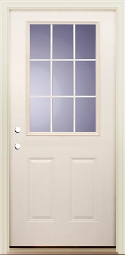 Mastercraft® Primed Steel 9 Lite ADA Approved Prehung Exterior Door At  Menards®