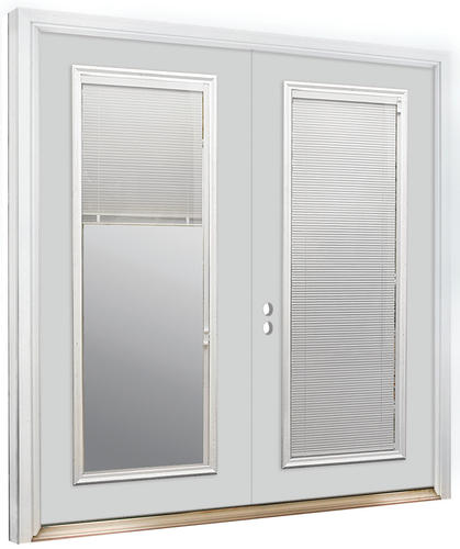 Attractive Mastercraft® Primed Steel French Patio Door With Lift N Tilt Mini Blinds At  Menards®
