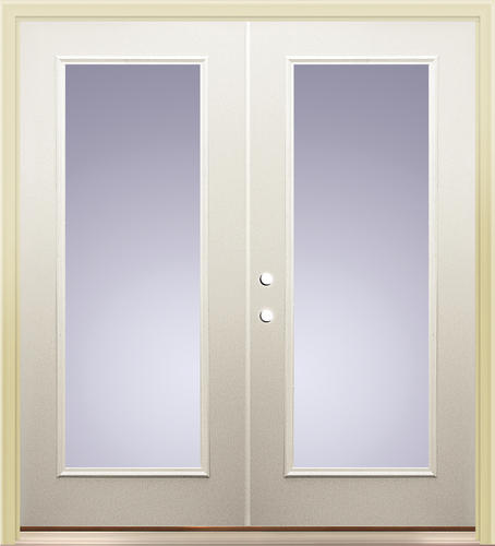 "French Exterior Doors Steel: Mastercraft® Primed Steel 72"" X 80"" Full-Lite French Patio"