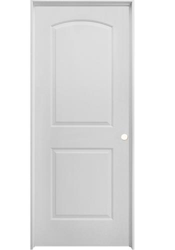 Mastercraft Brite White Smooth Arched Raised 2 Panel Hollow Core Interior Door System At Menards