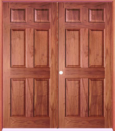 Mastercraft® Cherry 6 Panel Prehung Interior Double Door At Menards®