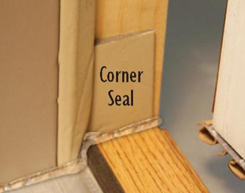 & Mastercraft® Corner Seal Weather Strip for Exterior Doors at Menards®