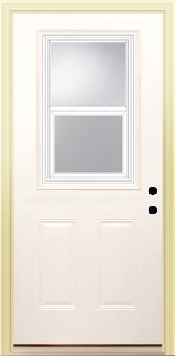 Mastercraft E 18 Steel Venting Half Lite Prehung Exterior Door At