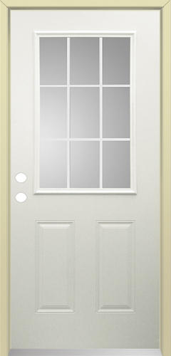 Mastercraft Steel 9 Lite Prehung Exterior Door At Menards
