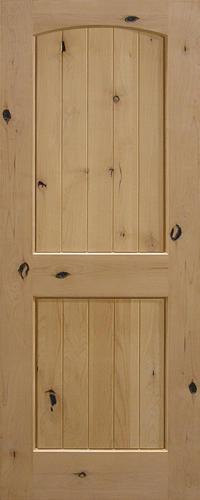 Mastercraft Knotty Alder Arch Plank 2 Panel Interior Door Only At Menards