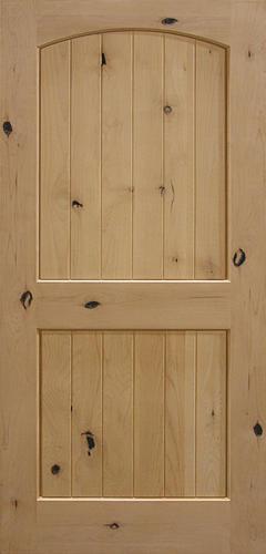 Mastercraft® Knotty Alder Arched Raised Plank 2 Panel Interior Door Only At  Menards®