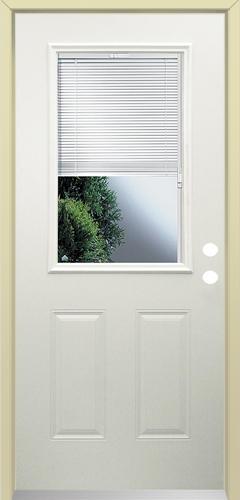 Beau Mastercraft® LT 10 Steel Half Lite Prehung Exterior Door With Blinds At  Menards®