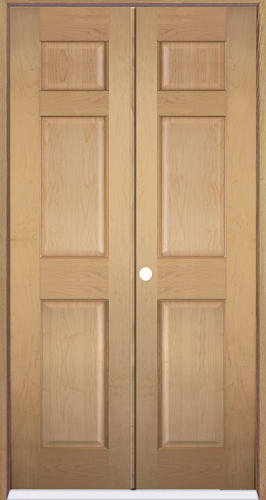 Mastercraft® Maple 6 Panel Prehung Interior Double Door At Menards®