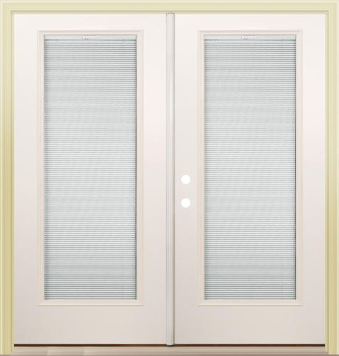 "French Exterior Doors Steel: Mastercraft® Primed Steel 72"" X 80"" French Patio Door With"