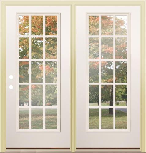 menards patio doors. Mastercraft  Primed Steel 72 x 80 15 Lite Center Hinge Patio Door at Menards