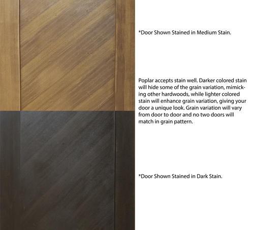 Mastercraft Poplar Flat 1 Panel Diagonal Grain Prehung Interior