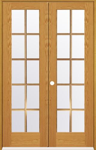 Mastercraft Oak 15 Woodlite Prehung Interior Double Door at Menards