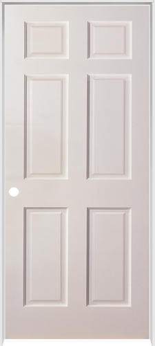 Mastercraft® Duracore® Primed Smooth Raised 6 Panel Prehung Interior Door  At Menards®