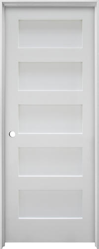 Mastercraft Primed Flat 5 Equal Panel Stile And Rail Flat Interior Door System At Menards