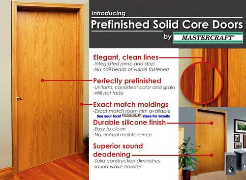 Mastercraft® Prefinished Wheat Oak Flush Solid Core Interior Door Slab At  Menards®