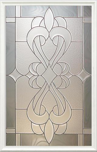 "Mastercraft® St. Rafael 32"" W x 80"" H Prefinished Bright White Steel Half-Lite Exterior Door System - Left Inswing"