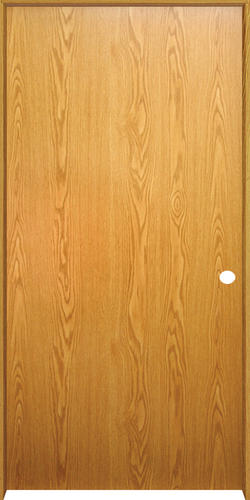 Superieur Mastercraft® Prefinished Wheat Oak Flush Solid Core Prehung Interior Door  At Menards®