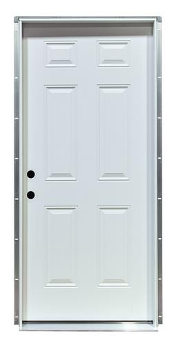 Mastercraft® Primed Steel 6-Panel 90-Minute Fire Door with ...