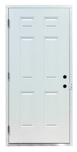Mastercraft® Primed Steel 6 Panel 90 Minute Fire Door System ...