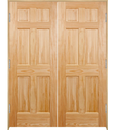 Mastercraft 60 Wx80 H Pine 6 Panel Prehung Interior Double Closet Door