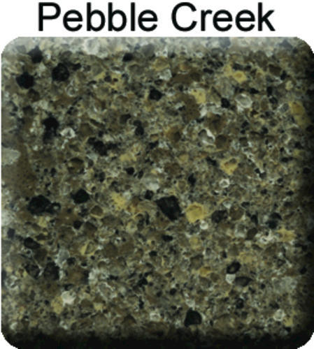Riverstone Quartz 45 7 8 Pebble Creek Backsplash