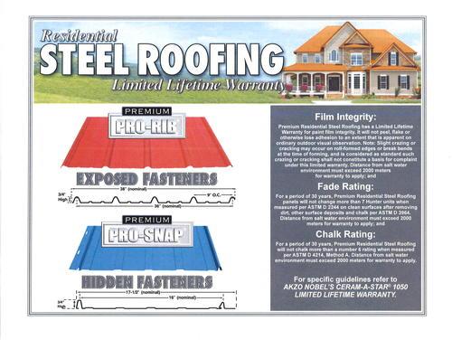 Cut To Length Premium Pro Rib Steel Panel At Menards