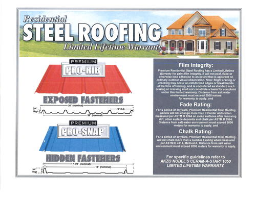 Cut To Length Premium Pro Snap Steel Panel At Menards 174