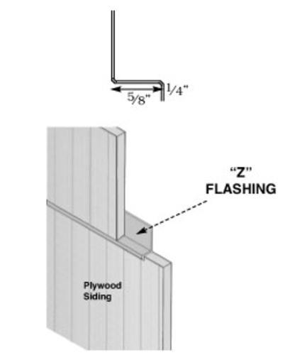 5 8 Quot X 10 Steel Z Flashing At Menards 174