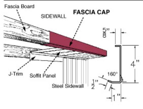 12 3 Quot Steel Fascia Cap At Menards 174
