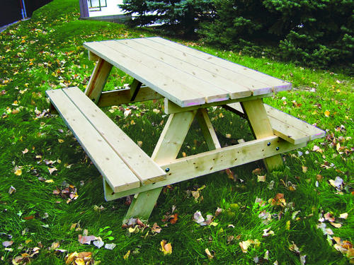 Pine Classic Picnic Table Kit At Menards - Picnic table bracket kit