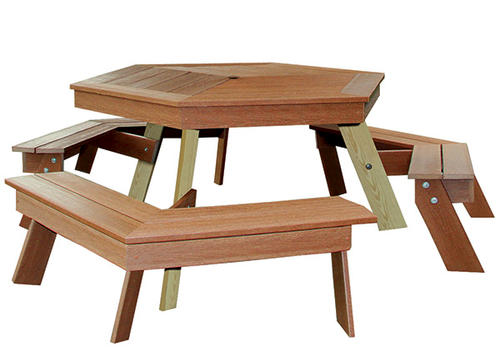 Midwest Manufacturing Ultra Deck Picnic Table At Menards - Composite octagon picnic table