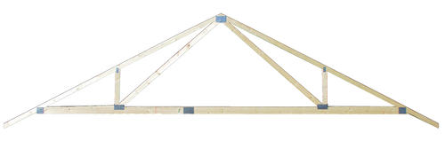 24 Spreadweb Residential Roof Truss 6 12 Pitch 87 At Menards