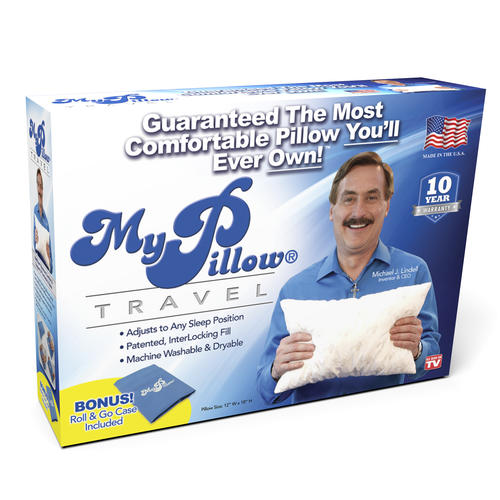 Mypillow Go Anywhere Pillow With Roll Go Pillowcase At Menards