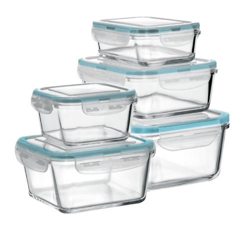 Fire Ice Glass Food Storage Set 10 Piece Set at Menards