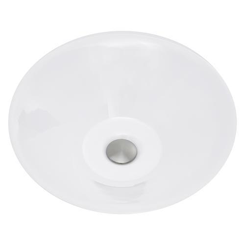 "nantucket sinks 16-5/8"" white round low-profile vessel"