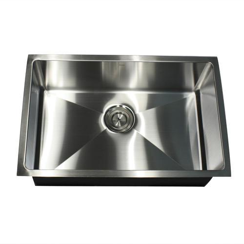 Nantucket Sinks Undermount 28 Stainless Steel Single Bowl Kitchen Sink At Menards