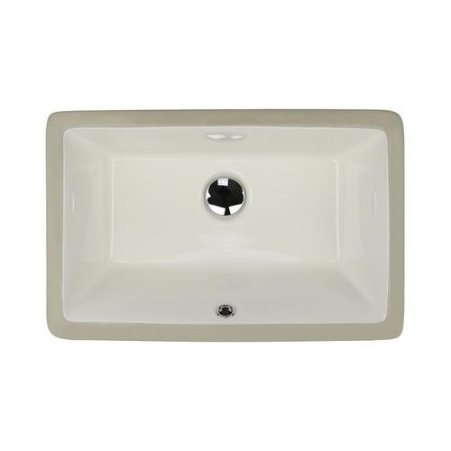 Nantucket Sinks 21 W X 11 D Bisque Rectangle Undermount Bathroom Sink At Menards