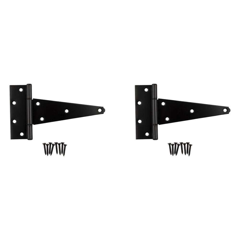 """B3140 Heavy Duty Gate Hardware 8/"""" Non-Removable Pin Hinge Black 2 Pack"""