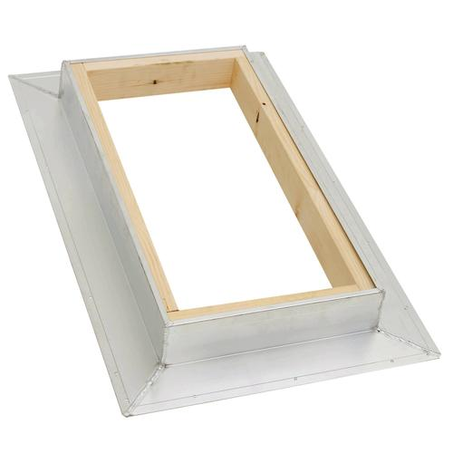 decorative windows for bathrooms pittsburgh corning glass.htm kennedy prebuilt aluminum curb with ready to finish wood interior  curb with ready to finish wood interior