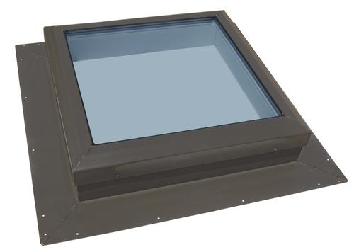 """Kennedy 22-1/2""""W x 22-1/2""""H Self Flashed Non-Vented Skylight with Impact Glass and 2"""" Curb"""