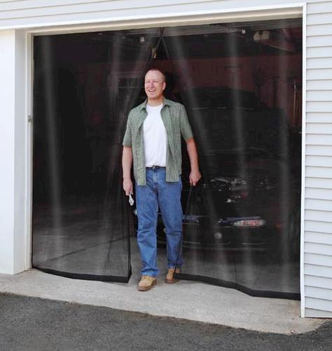 roll up garage door screenADFORS 1Car RollUp Curtain Fiberglass Garage Door Screen at Menards