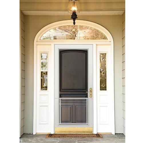 storm doors menards.  ADFORS 36 Brown Screen Door Grille Kickplate at Menards