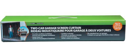 Adfors 2 Car Roll Up Curtain Fiberglass Garage Door Screen