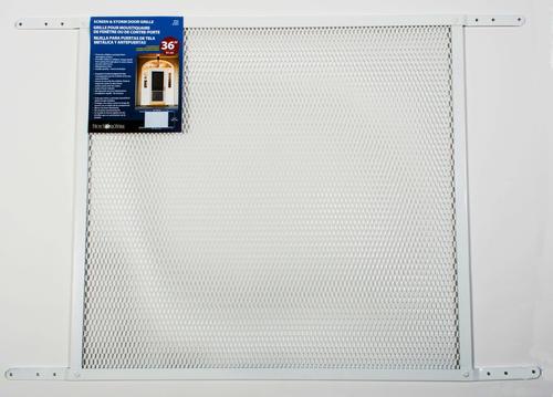 Adfors 36 White Screen Door Grille Kickplate