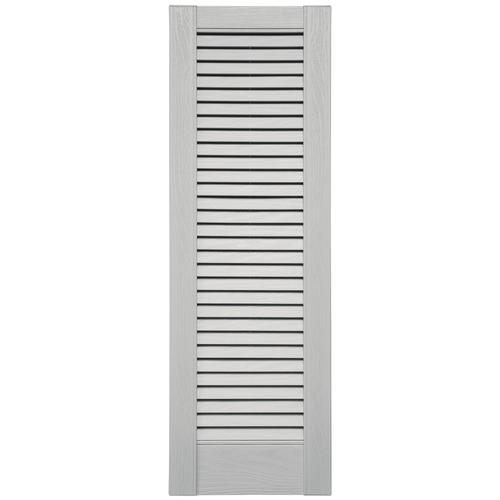 Shutters by design 16 1 2 w vinyl full louvered panel - Paintable louvered vinyl exterior shutters ...